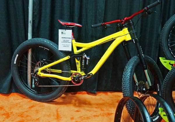 11Nine Full Suspension Fat Bikes at Interbike 2014