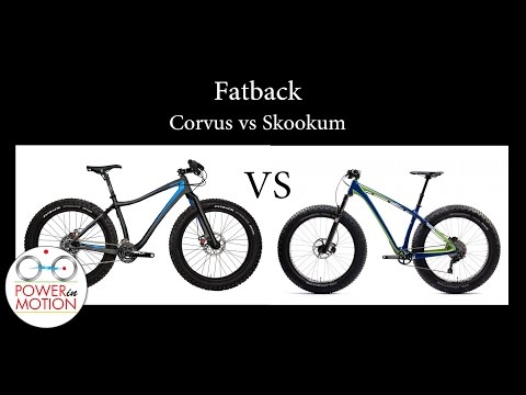 Fatback Skookum Carbon Fat Bikes comparison at InterBike 2015